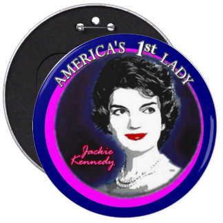 Jackie Kennedy: America's First Lady 6 Cm Round Badge