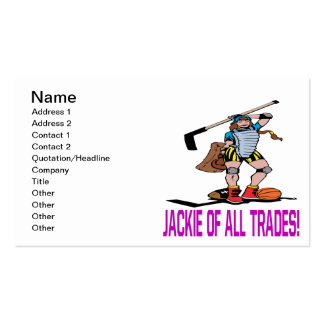 Jackie Of All Trades Pack Of Standard Business Cards