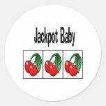 Jackpot Baby Classic Round Sticker