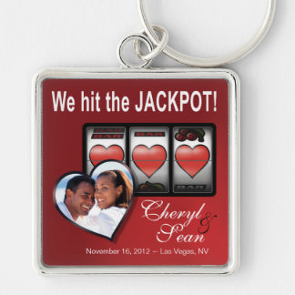 Jackpot Hearts We're Doing It In Vegas Photo Key Ring