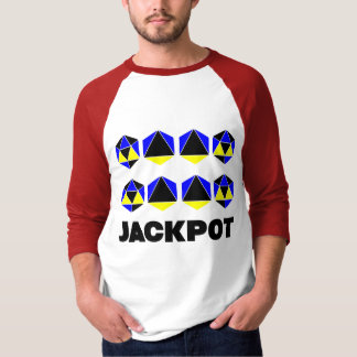 Jackpot Men's 3/4 Sleeve Raglan T-Shirt