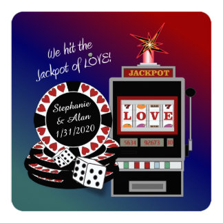 Jackpot of Love Reception Invitation