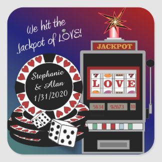 Jackpot of Love Wedding Stickers