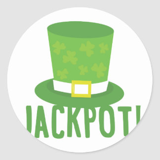 Jackpot Round Sticker