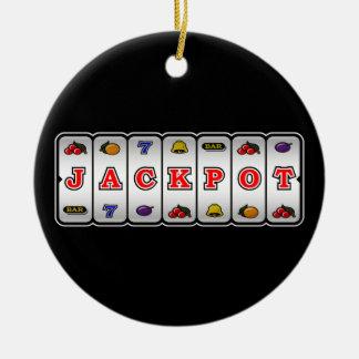 Jackpot Slot Machine Ornament (dark)