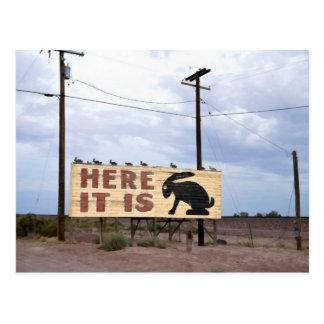 Jackrabbit Trading Post Route 66 Postcard