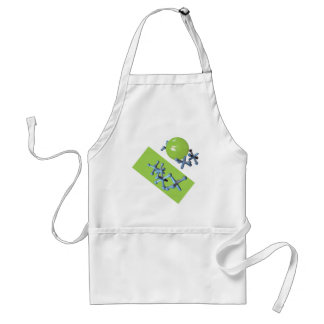 Jacks and Ball Lime Green Classic Toy Apron
