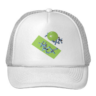 Jacks and Ball Lime Green Old Fashioned Game Cap