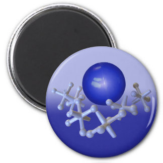 Jacks and Ball Magnet Old Fashioned Retro Toy Blue