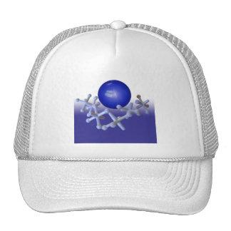 Jacks and Ball Set Classic Retro Toy Hat Cap Blue