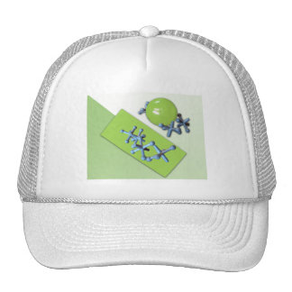 Jacks and Ball Set Lime Green Classic Toy Hat Cap