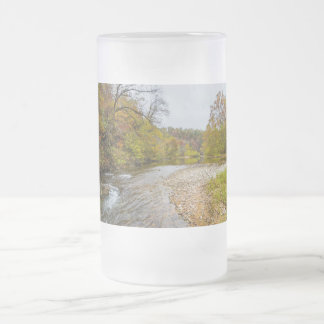 Jacks Fork Autumn Frosted Glass Beer Mug