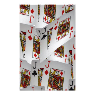 Jacks In A Layered Pattern,_ Personalised Stationery