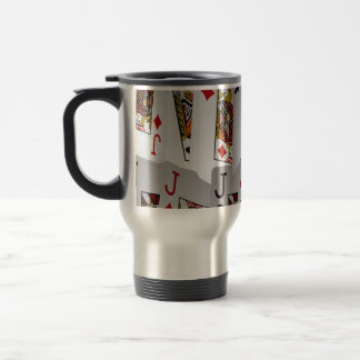 Jacks In A Layered Pattern,_ Travel Mug