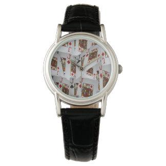 Jacks In Pattern, Ladies Leather Watch. Watch