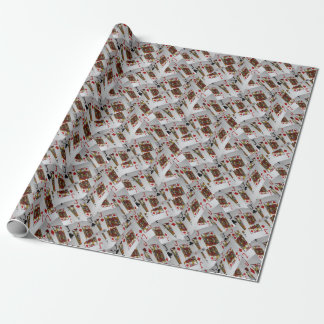 Jacks Poker Cards Layered Pattern, Wrapping Paper