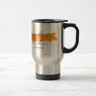 Jackson Asher - Orange Paint Swipe Travel Mug