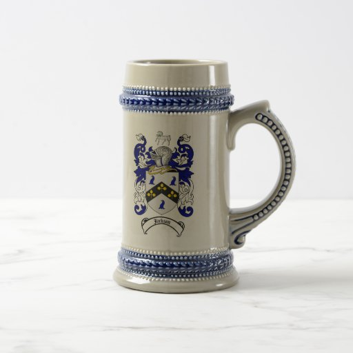 Jackson Coat of Arms Stein / Jackson Crest Stein Coffee Mug