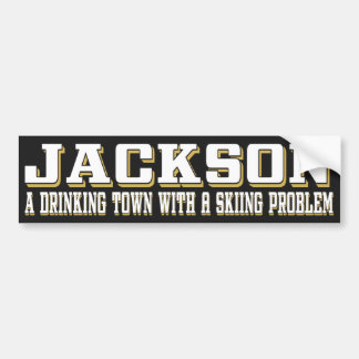 Jackson Drinking & Skiing Sticker