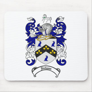 JACKSON FAMILY CREST -  JACKSON COAT OF ARMS MOUSE PAD