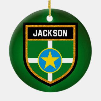 Jackson Flag Ceramic Ornament