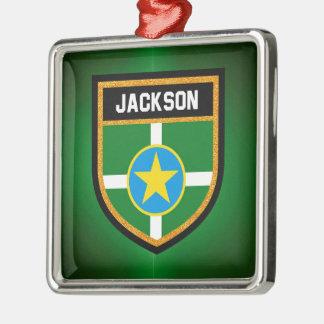 Jackson Flag Metal Ornament