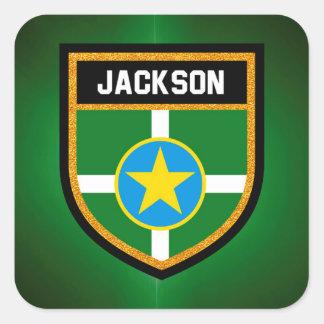 Jackson Flag Square Sticker