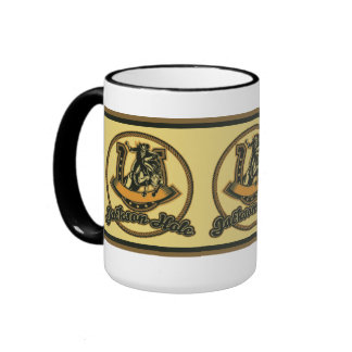 Jackson Hole Cowboy Green Ringer Coffee Mug