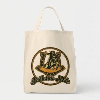 Jackson Hole Cowboy Green Tote Bag