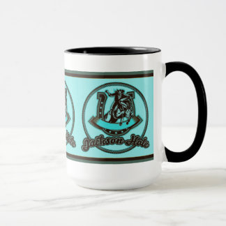 Jackson Hole Cowboy Mint Mug