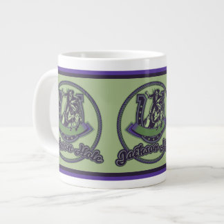 Jackson Hole Cowboy Mint 20 Oz Large Ceramic Coffee Mug