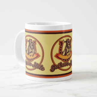 Jackson Hole Cowboy Red 20 Oz Large Ceramic Coffee Mug