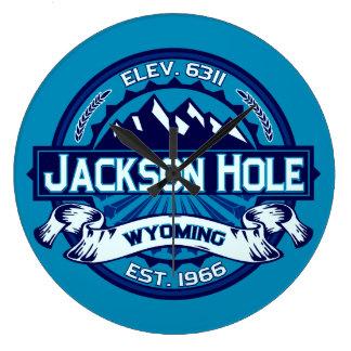Jackson Hole Ice Large Clock