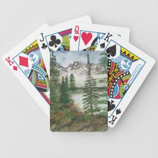 Jackson Hole Jenny Lake Bicycle Playing Cards