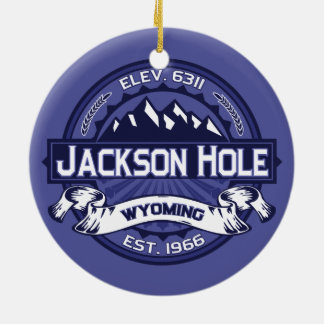 Jackson Hole Midnight Ceramic Ornament