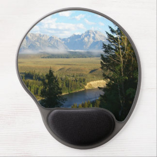 Jackson Hole Mountains and River Gel Mouse Pad