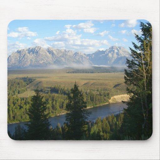 Jackson Hole Mountains and River Mousepad