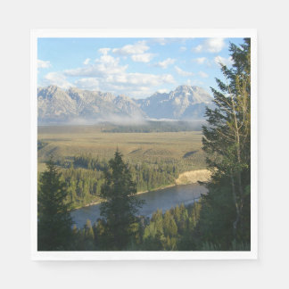 Jackson Hole Mountains and River Paper Napkin