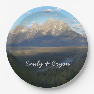 Jackson Hole Mountains (Grand Teton National Park) 9 Inch Paper Plate