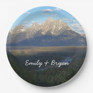 Jackson Hole Mountains (Grand Teton National Park) Paper Plate