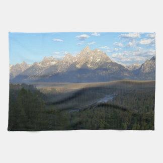 Jackson Hole Mountains (Grand Teton National Park) Tea Towel