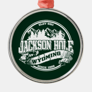 Jackson Hole Old Circle Green Metal Ornament
