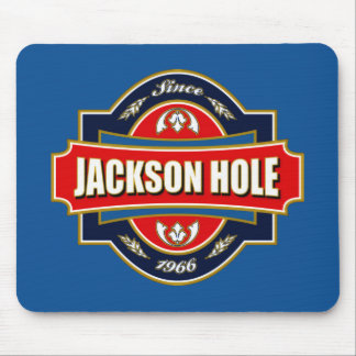 Jackson Hole Old Label Mouse Pad