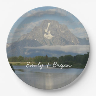 Jackson Hole River 9 Inch Paper Plate