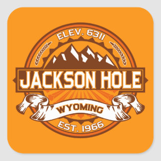 Jackson Hole Tangerine Square Sticker