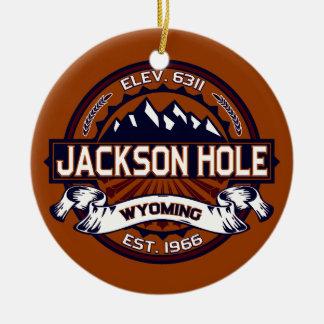 Jackson Hole Vibrant Ceramic Ornament