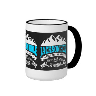 Jackson Hole Vintage Ringer Coffee Mug