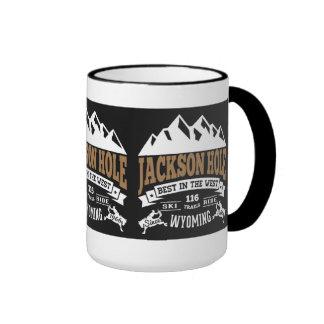 Jackson Hole Vintage Ringer Mug