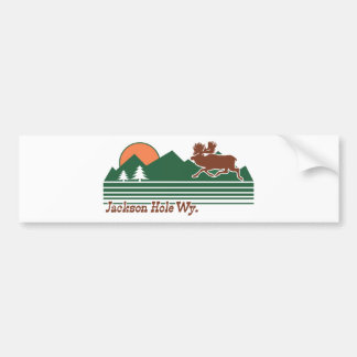 Jackson Hole Wyoming Bumper Sticker