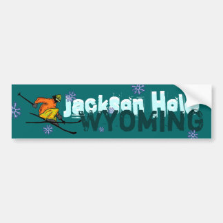 Jackson Hole Wyoming ski bumpersticker Bumper Sticker